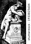 genius guarding the secret of...   Shutterstock .eps vector #1933825604