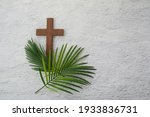 Palm Sunday Background. Cross...