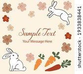 cute easter line art rabbits... | Shutterstock .eps vector #1933838441