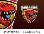 red dinosaur e sport logo... | Shutterstock .eps vector #1933838711