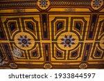 Art Ceiling In Ubosot Of Wat...