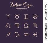 zodiac signs vector set....   Shutterstock .eps vector #1933845797