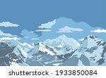 Vector Illustration Of Peaks Of ...