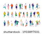 different isometric cartoon... | Shutterstock .eps vector #1933897031