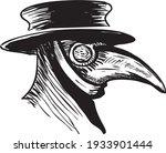 plague doctor with bird mask...   Shutterstock .eps vector #1933901444