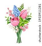 vector spring bouquet of pink... | Shutterstock .eps vector #1933911281