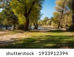 Picnic Area By The Lake. A...