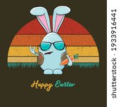 eastre bunny badass and funny...   Shutterstock .eps vector #1933916441