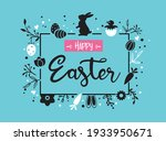 easter greeting card and banner ... | Shutterstock .eps vector #1933950671