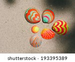 Colorful Hand Painted Bivalve...