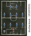 greece football club line up on ... | Shutterstock .eps vector #193395551