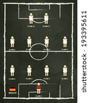 germany football club line up... | Shutterstock .eps vector #193395611