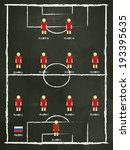 russia football club line up on ... | Shutterstock .eps vector #193395635