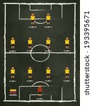 colombia football club line up... | Shutterstock .eps vector #193395671