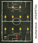 ecuador football club line up... | Shutterstock .eps vector #193395761