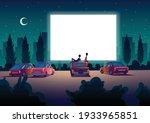 car street cinema. drive in... | Shutterstock .eps vector #1933965851