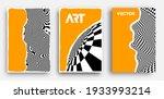 vector poster set. psychedelic... | Shutterstock .eps vector #1933993214