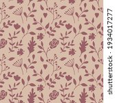 seamless texture with floral... | Shutterstock .eps vector #1934017277