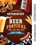 poster for beer festival with... | Shutterstock .eps vector #1934023601