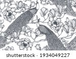 black and white vector seamless ... | Shutterstock .eps vector #1934049227