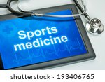 tablet with the text sports... | Shutterstock . vector #193406765