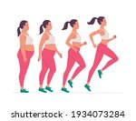 stages of weight loss for a... | Shutterstock .eps vector #1934073284