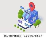 shopping online store mobile.... | Shutterstock .eps vector #1934075687