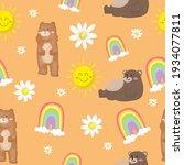 seamless pattern cute cartoon... | Shutterstock .eps vector #1934077811