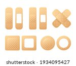 collection of adhesive bandages ...   Shutterstock .eps vector #1934095427