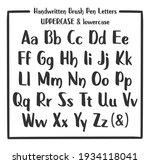 marker font. handwritten marker ... | Shutterstock .eps vector #1934118041