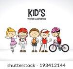 kids design over white... | Shutterstock .eps vector #193412144
