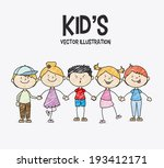 Kids Design Over White...