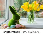 Easter Bunny Rabbit Statuette...