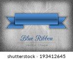 blue ribbon on the gray noisy... | Shutterstock .eps vector #193412645