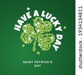 have a lucky day saint patricks ... | Shutterstock .eps vector #1934134811