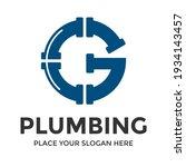 g letter vector logo template.... | Shutterstock .eps vector #1934143457