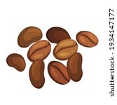 coffee beans pile cartoon... | Shutterstock .eps vector #1934147177
