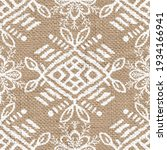 seamless burlap with white... | Shutterstock . vector #1934166941
