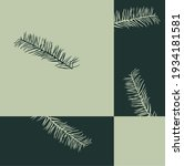 blue green gray palm branch...   Shutterstock .eps vector #1934181581