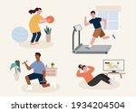 flat illustration of people... | Shutterstock .eps vector #1934204504