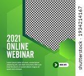 geometric online webinar social ... | Shutterstock .eps vector #1934214167