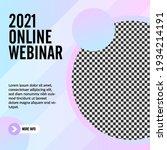 geometric online webinar social ... | Shutterstock .eps vector #1934214191