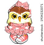 Baby Owl Girl In Pink Dress