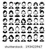 Set Of Boys And Girls Avatars...
