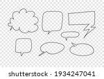 hand drawn set of doodle speech ... | Shutterstock .eps vector #1934247041