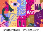 dna day. bright banner in free...   Shutterstock .eps vector #1934250644