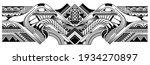 polynesian tattoo pattern maori ...   Shutterstock .eps vector #1934270897