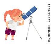 curious little redhead girl...   Shutterstock .eps vector #1934275391