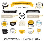 frame set representing a meal.  ... | Shutterstock .eps vector #1934312087