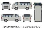 minibus vector mockup. isolated ... | Shutterstock .eps vector #1934318477